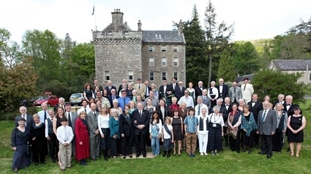 "Culcreuch Castle, ancestral Home of the Galbraiths. The people in front of the castle are some of ""us"" at the 2012 ClanGalbraith Gathering."